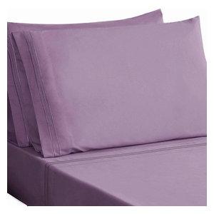Honeymoon Super Soft 4-Piece Bed Sheet Set,, Light Purple, Full