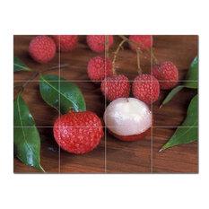 Fruits Vegetables Ceramic Tile Mural Kitchen Backsplash Bathroom Shower, 405204