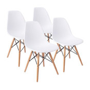Mid Century Modern Dining Chair Effiel Modern Lounge Chair, Set of 4