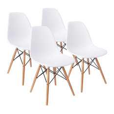Mid Century Modern Dining Chair Effiel Modern Lounge Chair, Set Of 4    Dining