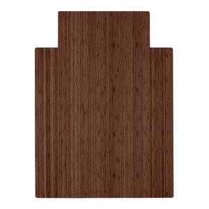 "Anji Mountain Bamboo Roll-Up Chairmat 36""x48"" with lip, 36""x48"""