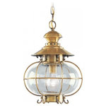 Livex - Livex Harbor 1-Light Outdoor Pendant Lantern, Flemish Brass - Fixture type: Outdoor Pendant Lantern