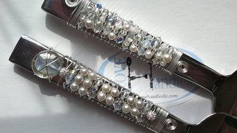 Bridal Crystal & Pearls, Oneida Aero® cake server & cake knife