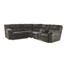 Tambo Reclining Sectional, Pewter