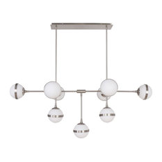 Horizon Chandelier LED Integrated Dimmable Chandelier, Silver