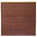 """Oriental Furniture - Bamboo Cordless Window Shade, Mahogany, 60"""" W - This mahogany bamboo cordless Shade, adds a distinctive flair to any window. Constructed from all natural bamboo, they are easy to set up and operate and are perfect for adding a bold accent to your home or business decor."""
