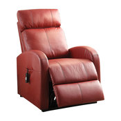 Ricardo Recliner With Power Lift, Red PU