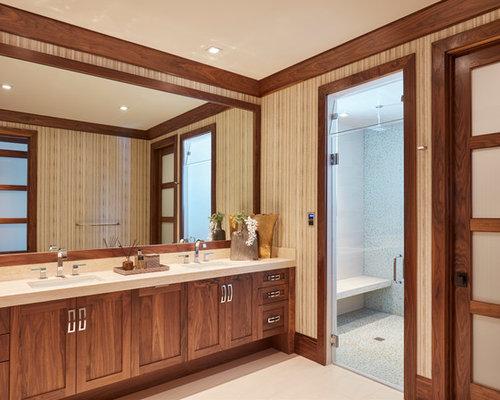 salle de bain exotique de taille moyenne photos et id es d co de salles de bain. Black Bedroom Furniture Sets. Home Design Ideas