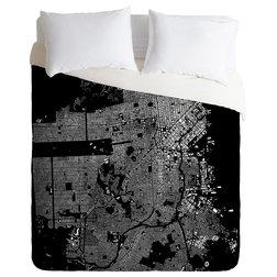 Trend Contemporary Duvet Covers And Duvet Sets CityFabric Inc San Francisco Black Duvet Cover