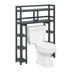 Dunnsville 2-Tier Space Saver With Side Storage, Graphite