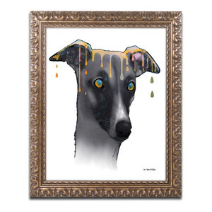 Greyhound Canvas Art By Marlene Watson Traditional Prints And Posters By Trademark Global