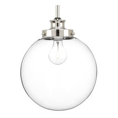 Progress Lighting 1-100W Medium Pendant, Polished Nickel