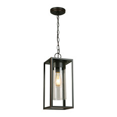 EGLO USA - 1x60W Outdoor Pendant w/ Oil Rubbed Bronze Finish & Clear Glass by Eglo 202898A - Outdoor Hanging Lights