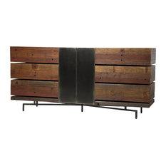 Don Rustic Modern Reclaimed Wood Metal Dresser