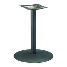 Round Series 22 in. Table Base w 4 in. Column (Black Wrinkle)