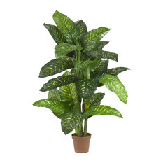 5 ft. Dieffenbachia Silk Plant - Real Touch