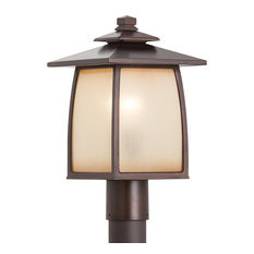 1-Light Outdoor Lantern, Sorrel Brown