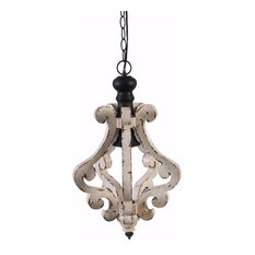 Wooden Home Perth Chandelier, White