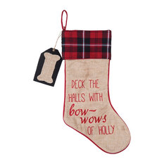 Deck the Halls With Bow Wows of Holly Christmas Holiday Dog Pet Stocking