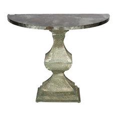 """Demilune Pedestal Console Table 40""""x20""""x31"""""""