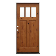 Creative Entryways   Exterior Pre Hung Pre Finished Knotty Alder Prime  Jamb, Right
