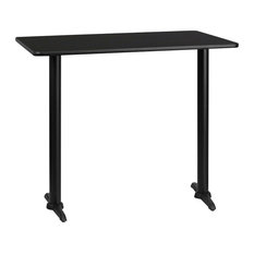 Flash Furniture   Flash Furniture 24 Inch X 42 Inch Rectangular Bar Table    Indoor Pub