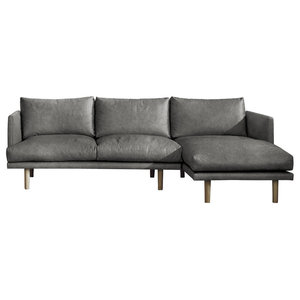 Ottilie Chaise Sofa, Zinc, 3 Seater, Right Hand Facing