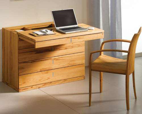 Cubus Modern Beech Bureau Desks And Hutches