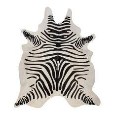 Pergamino Zebra Off White Cowhide Rug