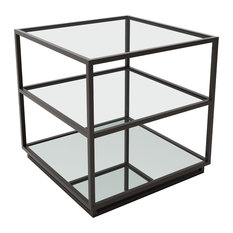 Zuo Kure End Table In Distressed Black
