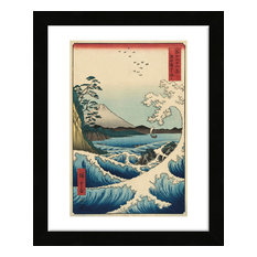 """The Sea off Satta in Suruga Province, 1858"" Framed Print, 13""x16"""