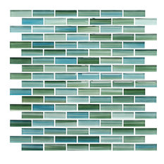 Rocky Point Tile Co Rip Curl Green And Blue Hand Painted Glass Mosaic Subway Tile