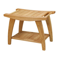 Casual Home   Tao Shower Bench With Solid American White Oak   Shower  Benches U0026 Seats
