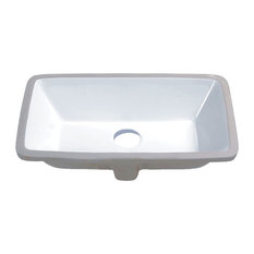 1st Avenue   Howe Rectangular Porcelain Undermount Vanity Sink   Bathroom  Sinks
