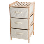 Lavish Home - 3-Drawer Organization Wood Fabric Unit with Shelf Top - Great for bedrooms, bathrooms and more. Creates storage. Lightweight. Drawer: 13.5 in. W x 12 in. D x 6.25 in. H. Overall: 14.33 in. W x 13.6 in. D x 25.75 in. H.