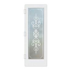 """Interior Door, Carmona, Private Frosted, Primed, 28x80"""", Slab Door"""