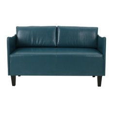 Nile Modern Faux Leather Upholstered Loveseat