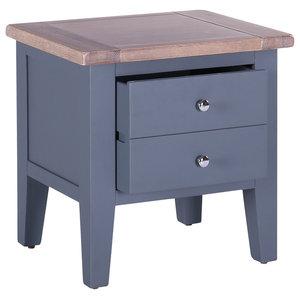 1-Drawer Lamp Table, Dark Grey