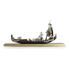 Lladro Gondola In Venice Sculpture 01002014