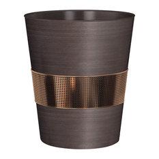 TATARA - Selma Oil Rubbed Bronze Wastebasket - Wastebaskets