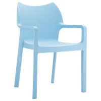 Compamia Diva Outdoor Dining Armchair, Set of 4, Light Blue