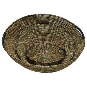 Macké Basket Bowls, Black, Set of 3