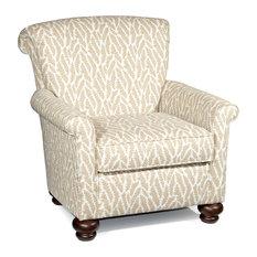 Jana Accent Chair, White/Beige