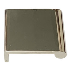 """Solid Brass Edge Pull 1.5""""x1.5"""", Polished Nickel"""