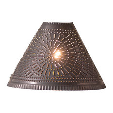 Most popular southwestern lamp shades for 2018 houzz irvins country tinware plantation shade with chisel blackened tin lamp shades aloadofball Image collections