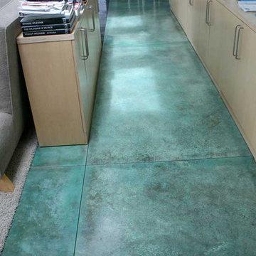 Colorful Concrete Interior Floors - Decorative Concrete Interior