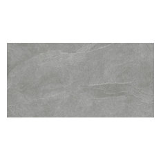 "18""x36"" Slate Gray Field Tiles, Natural-Rectified, Set of 3"