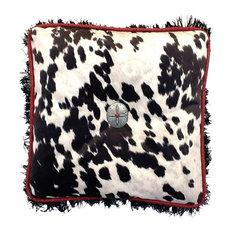 Cowhide Black Pillow