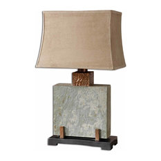 Uttermost   Uttermost Slate Square Table Lamp   Table Lamps