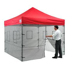 Mesh Sidewall Kit With Food Vendor Windows, 10'x10' Mesh Enclosure Kit